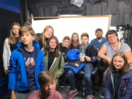Klasa 7a w siedzibie TVN i Europejski Centrum Solidarności
