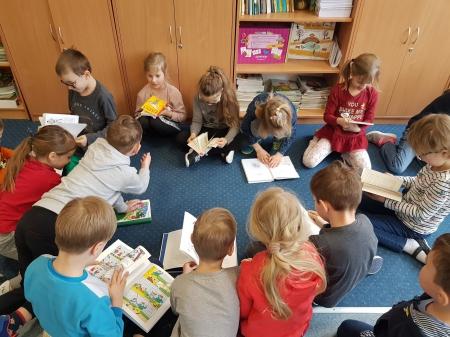Klasa 1a uczestniczyła  w warsztatach czytelniczych