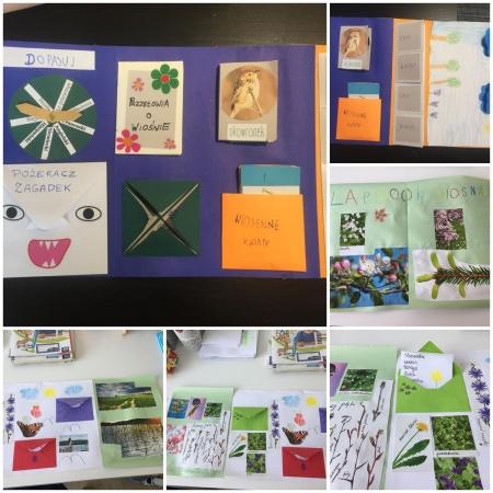 Klasa 1a powitała wiosnę kolorowymi lapbookami