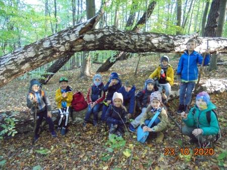 Klasa 1d w rezerwacie przyrody Kępa Redłowska