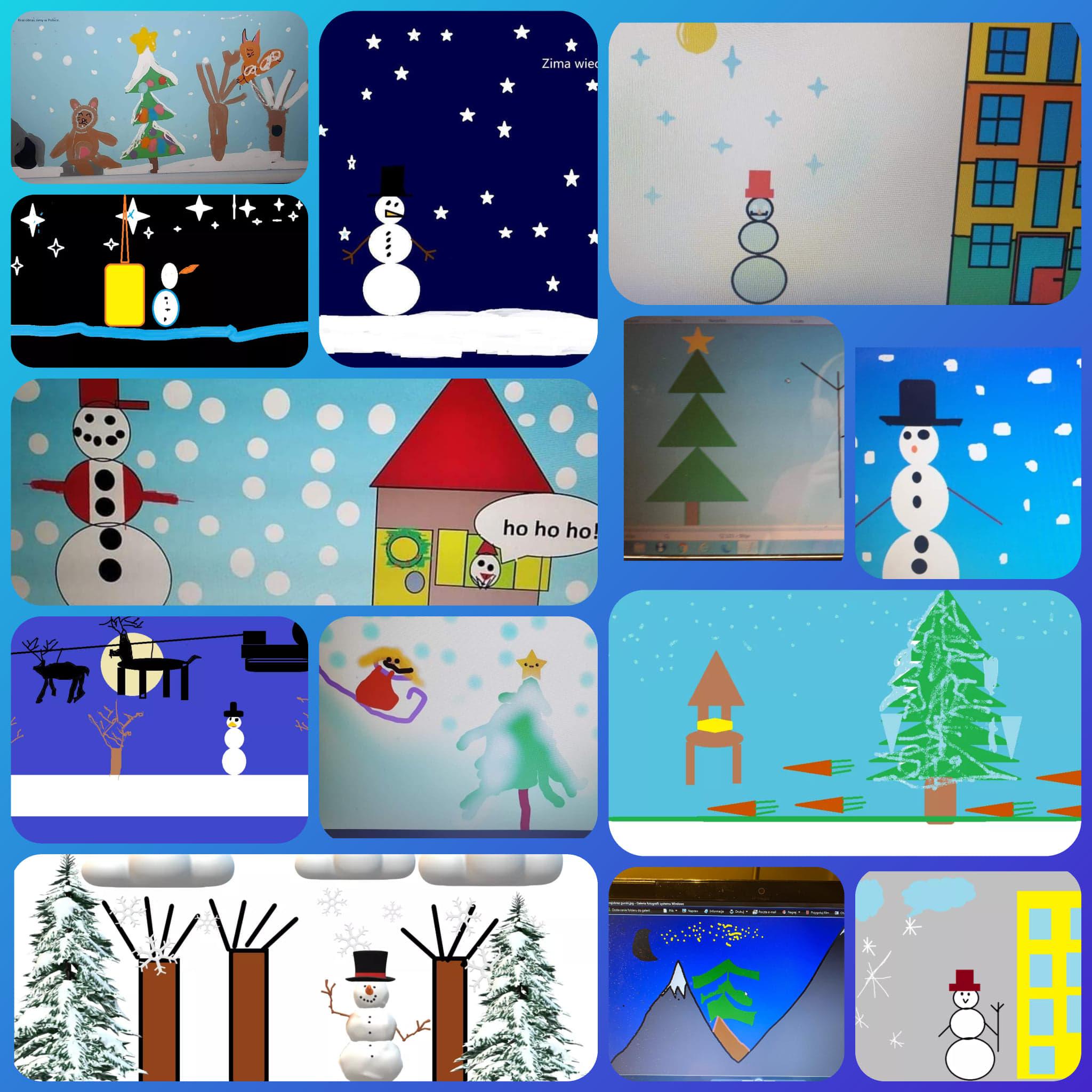 ''Zimowy krajobraz'' w klasie 2a