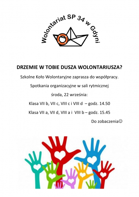 Spotkanie organizacyjne Szkolnego Koła Wolontaryjnego 2021/2022